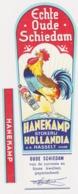 Stokerij  Motmans  Hasselt Jenever - Distillerie - Hanekamp + Halsetiket - Genièvre. Belgique - Etiquettes