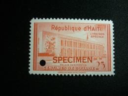 "Haiti, 1953 Postal Administration Building Perforation Proofs + ""SPECIMEN"" Scott #E1 MNH (SCARCE) - Haiti"