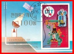 COREA HOJITA AÑO 1976  CENTENARIO DEL TELEFONO - Corea (...-1945)