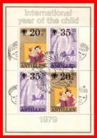 ANTILLAS HOLANDESAS HOJITA AÑO 1979 AÑO INTERNACIONAL DEL NIÑO - Antillas Holandesas