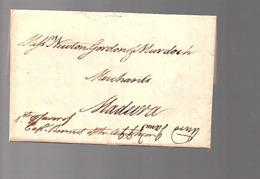 1798 Ship Letter 'Captin's Letter Thomas Gordon To Madeira Newton Gordon Murdoch (wine Dealer) (P584) - Madeira