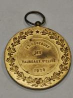 Médaille Luxembourg, 25 Concours Des Taureaux D'élite 1970 - Tokens & Medals