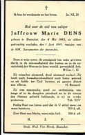 Juffrouw Dens Marie °1863 Booischot +1941 Booischot - Todesanzeige