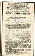 Boeckx Victor Echtg Meynckens AnnaMaria °1867 Wolfsdonk Langdorp +1943 Tessenderlo Voorzitter Openbare Onderstand Koster - Esquela