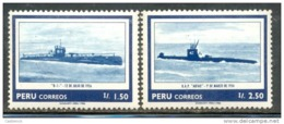 O) 1986 PERU, NAVY - 1.50i R-1 SC 873, 2.50i ABTAO SC 874 ( N) III- 2010 ), MNH - Peru