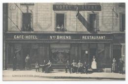 LONS LE SAUNIER ( 39 - Jura ) - Café Hôtel Moderne - Vve BRIENS ( Très Animée , Personnes , Rue ) - TTB Etat - Lons Le Saunier