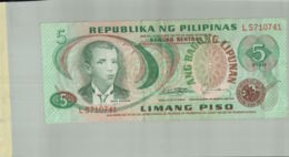 BILLET DE BANQUE PESO 5 - LIMANG PISO  - REPUBLIKA NG PHILIPINAS  - PHILIPPINES  1949 BILLET    Sept 2019 Alb 12 - Philippines