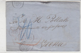 Brief Aus SEVILLA Mit Einer Menge Stempeln: Bahnpost VERVIERS-COLN, WIEN .. - ...-1850 Vorphilatelie