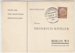 Sudetenland - Köhlerkarten Aus BIRKENHAMMER + MÄHR.KARLSDORF - Occupation 1938-45