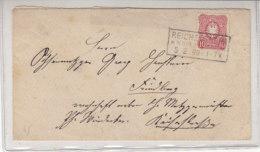 Brief Mit Kastenstempel REICHELSHEIM In Der Wetterau 5.2.90 Nach Friedberg Gr. Hessen / Repariert - Briefe U. Dokumente