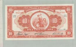 BILLET DE BANQUE  PEROU Banco Central De Reserva Del Peru 10 Soles De Oro 1956    -   Sept  2019  Alb Bil - Peru