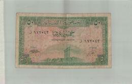 BILLET DE BANQUE   LIBAN 50 Piastres 1950 P43 VG Billet   -  Sept  2019   Alb Bil - Liban