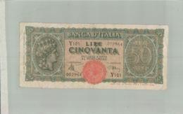BILLET DE BANQUE- BANCA D'ITALIE   1943  Billet  - Sept  2019  Alb Bil - 50 Lire