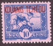 "Kouang-Tchéou  1937 -1941 Indochinese Postage Stamps Overprinted ""KOUANG-TCHÈOU"" 10c  Rose Paper # MNH # - Unused Stamps"