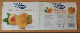 ETIQUETA MELOCOTÓN EN ALMÍBAR HERO. - Obst Und Gemüse