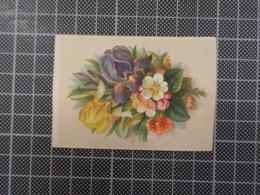 Cx9) Petite CHROMO ANCIENNE Bouquet De Fleurs - Cromo