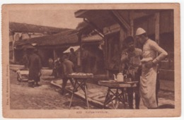 °°° 13937 - BALKANS , KAFFEE VERKAUFER , COFFEE SELLER - 1921 With Stamps °°° - Europa