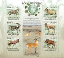 Mozambique, 2010. [moz10104] Antelopes & Gazelles ( Tragelaphus Buxtoni, Kobus Megaceros) (s\s+block) - Stamps