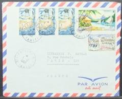 French Polynesia - Airmail Cover To France 1968 Tiare Tahiti - Briefe U. Dokumente