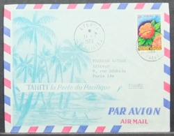 French Polynesia - Airmail Stationery Cover To France 1964 Flower Saraca Indica Uturoa - Briefe U. Dokumente