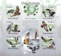 Mozambique, 2010. [moz10115] Raptors, ( Circaetus Gallicus, Mielerax Metabates, Pandion Baliaetus, Etc..) (s\s+block) - Eagles & Birds Of Prey