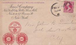 L4D162 ETATS-UNIS Lettre Hecker Jones Jewel Lining Compagny New Yort Pour New York 10 06 1892 - Lettres & Documents