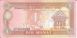 TURKMENISTAN      Lot De 2 Billets  - 1 Et 5 Manat  Nd(1993)    -- UNC -- - Turkmenistan