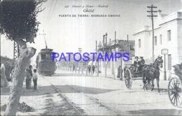 119502 SPAIN ESPAÑA CADIZ ANDALUCIA PUERTA DE TIERRA BARRIADA OBRERA & TRANVIA TRAMWAY POSTAL POSTCARD - Sin Clasificación