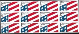 US 1990-1 Sc#2522a 29c (F) Pane Of 12 MNH  Face $3.24 - Estados Unidos