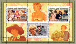 Guinea  2006 Princess Diana ,Luciano Pavarotti, Ronald Reagan - Guinea (1958-...)