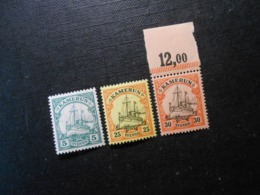 D.R.21 L/11/12  5/25/30Pf**MNH  Deutsche Kolonien (Kamerun) 1900/1918  Mi 12,60 € - Kolonie: Kamerun