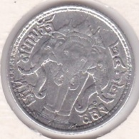 Thaïlande 1/4 Baht  - 1 Salung BE 2462 (1919) Rama VI Argent Y# 43a . Elephant. - Thaïlande