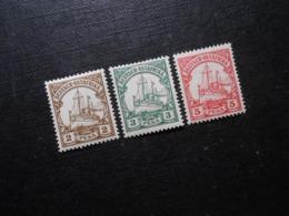 D.R.Mi 11-13  2/3/5P*MLH  Deutsche Kolonien ( Deutsch-Ostafrika ) 1901  Mi 11,00 € - Colony: German East Africa