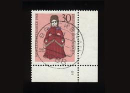 BRD 1968, Michel-Nr. 573, Wohlfahrt 1968, Puppen, 30 Pf., Eckrand Rechts Unten Mit Formnummer 2, Gestempelt - BRD