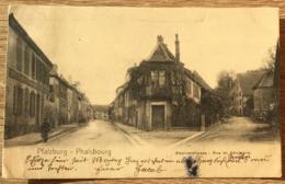 57 PHALSBOURG SEMINARSTRASSE RUE DU SEMINAIRE 1906 CPA  2 SCANS - Phalsbourg