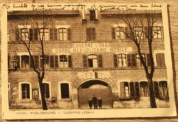 57 PHALSBOURG CASERNE LOBAU 1937 CPA  2 SCANS - Phalsbourg