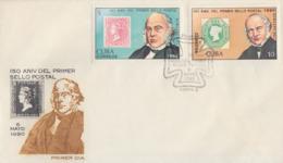 Enveloppe FDC  1er Jour   CUBA  Sir  Rowland  HILL   1990 - Rowland Hill
