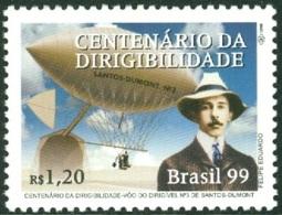 BRAZIL 1999 SANTOS-DUMONT DIRIGIBLE FLIGHT CENTENARY** (MNH) - Brazil
