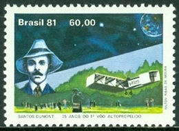 BRAZIL 1981 AVIATOR SANTOS DUMONT** (MNH) - Brazil
