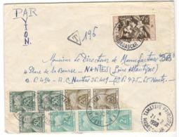21996 - Pour La France Avec  8 Timbres Taxe - Madagascar (1889-1960)