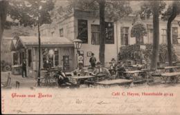 ! Alte Ansichtskarte  Gruss Aus Berlin, 1900, Cafe C. Heyne, Hasenheide 40, Automaten, Neukölln, Kreuzberg, AGfaV - Neukoelln