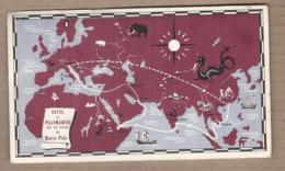 CPSM Publicité - IONYL PLASMARINE Traces MARCO POLO TB CARTE Géographique EUROPE + TIMBRES ITALIE VENISE - Publicité
