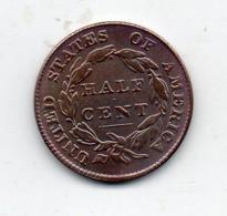 USA : 1/2 Ct 1833 - Émissions Fédérales