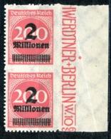 Nr. 309 BP Randpaar Mit Anlegepunkt Postfrisch - Deutschland