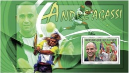 Guinea  2006 Andre Agassi. Tennis - Guinea (1958-...)