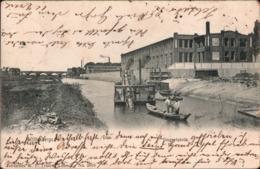 ! Alte Ansichtskarte Aus Wittenberge, Eimerkettenbagger, Nähmaschinenfabrik Singer, 1904 - Wittenberge