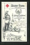 AK Steamer Hansa, Gesellschaft Zur Rettung Schiffbrüchiger, 25. Jähr. Jubiläum 1906 - Sin Clasificación