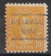 USA Precancel Vorausentwertung Preo, Locals Maine, Hallowell 562-L-2 HS - Vereinigte Staaten