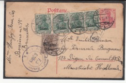 Guerre 1914/19 Carte Vers Les Pays - Bas  Carte De La Zone Des Étapes    Voir Cachets - Guerra '14-'18