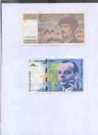 20f DEBUSSY Et 50f MERMOZ TTB  + 14 Illets De DEBUSSY       Ref 160919 - EURO